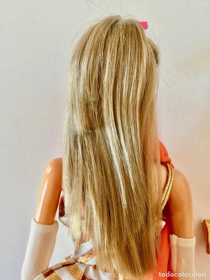 Barbie y Ken: BARBIE RUBIA MATTEL 1965-67 ORIGINAL VINTAGE VESTIDO GALA LAMÉ PAÑUELO LARGO BOLSO GUANTES ZAPATOS - Foto 12 - 150437946