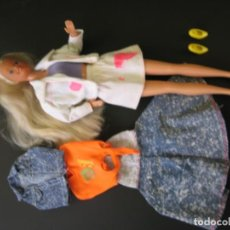 Barbie y Ken: MUÑECA BARBIE VINTAGE SUPERSTAR 1980 PELUCA RUBIA PLATINO CON ROPA MADE IN SPAIN MATTEL. Lote 151550918