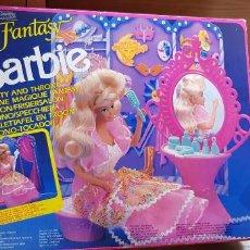 Barbie y Ken: BARBIE FANTASY TRONO TOCADOR DE MATTEL AÑO 1990. Lote 153921770
