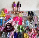 Barbie y Ken: LOTE ROPA BARBIE CONGOST 42 PIEZAS MUCHOS ACCESORIOS 2 KENS 5 CABEZAS BARBIE AÑOS 60. Lote 158582596