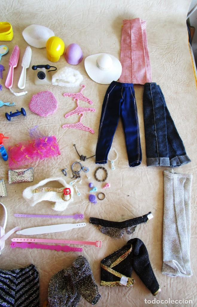 Barbie y Ken: LOTE ROPA BARBIE CONGOST 42 PIEZAS MUCHOS ACCESORIOS 2 KENS 5 CABEZAS BARBIE AÑOS 60 - Foto 9 - 158582596