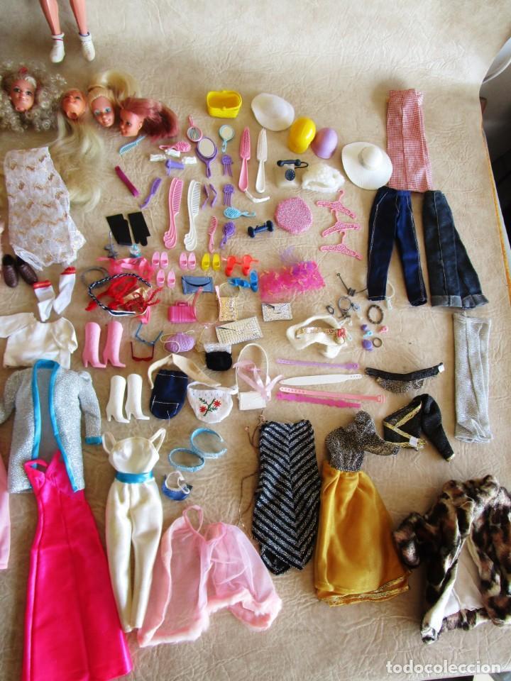 Barbie y Ken: LOTE ROPA BARBIE CONGOST 42 PIEZAS MUCHOS ACCESORIOS 2 KENS 5 CABEZAS BARBIE AÑOS 60 - Foto 24 - 158582596