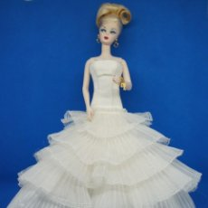 Barbie e Ken: BARBIE FASHION MODEL SILKSTONE BODY (OOAK -ONE OF A KIND, SOLO HAY UNA ) NOVIA VESTIDO ROSA CLARÁ .. Lote 159627030