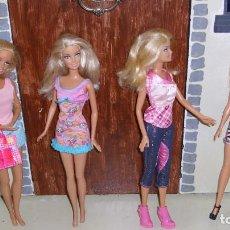 Barbie y Ken: LOTE 4 MUÑECAS BARBIE CON ROPA MATTEL. Lote 161223070