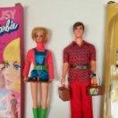 Barbie y Ken: BARBIE Y KEN MUÑECAS PARLANTES VINTAGE 1971 CON ACESORIOS VESTIDOS CAJAS ORIGINALES MATTEL. Lote 163948190