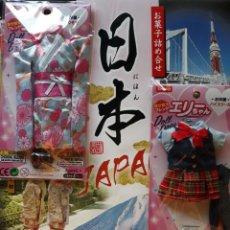 Barbie et Ken: ERI CHAN LA BARBIE JAPONESA CON KIMONO CELESTE Y TRAJE ESCOLAR. Lote 166615974
