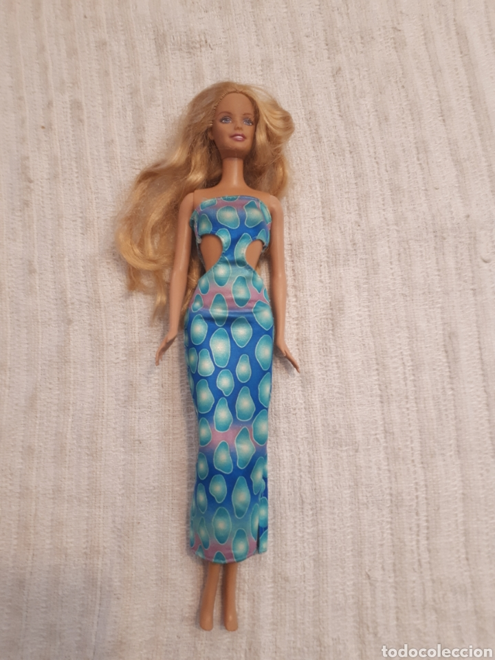 BARBIE DE MATTEL 1998 VESTIDO TUBO LARGO AZUL (Juguetes - Muñeca Extranjera Moderna - Barbie y Ken)