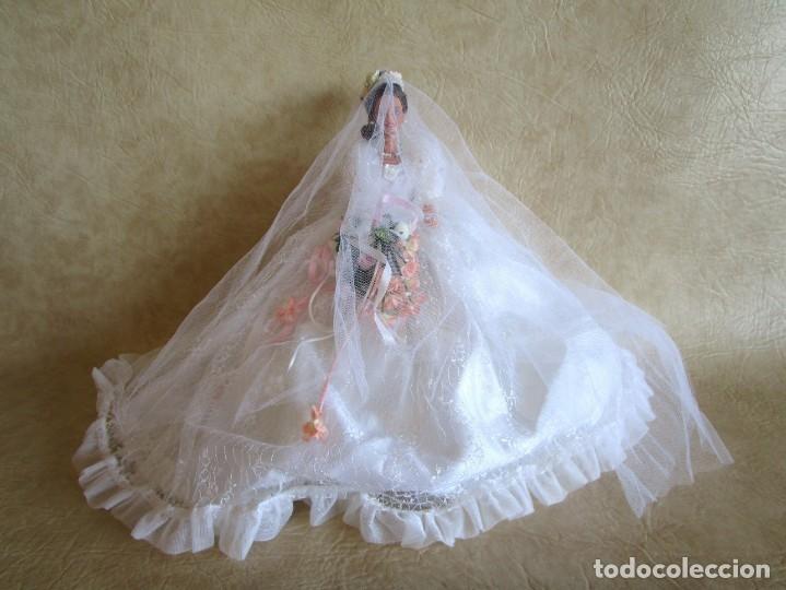 Barbie y Ken: muñeca barbie con vestido de novia y ramo mattel 1998 - Foto 10 - 29334698