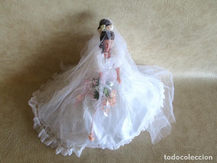 Barbie y Ken: muñeca barbie con vestido de novia y ramo mattel 1998 - Foto 11 - 29334698
