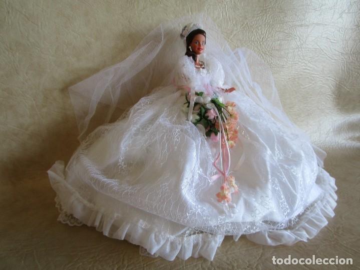 Barbie y Ken: muñeca barbie con vestido de novia y ramo mattel 1998 - Foto 2 - 29334698