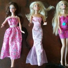 Barbie y Ken: 3 MUÑECAS BARBIE CUELLO MATTEL 1998 ESPALDA 2009 MATTEL INDONESIA - CHINA. Lote 167954092