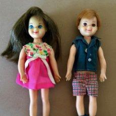 Barbie y Ken: TUTTI Y TODD MUNECAS VINTAGE 1965 VESTIDOS ORIGINALES MATTEL HERMANOS DE BARBIE. Lote 171707245