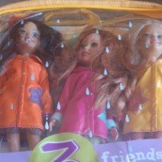 Barbie y Ken: 3.MUÑECAS BARBIE WEE FRIENDS DÍAS DE LLUVIA JANET, STACIE, MIRANDA 2000-2004. Lote 176252045