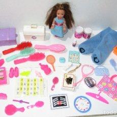 Barbie y Ken: ACCESORIOS, COMPLEMENTOS PARA MUÑECA BARBIE + SHELLY, MATTEL. Lote 178824452