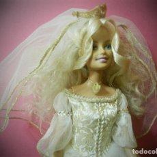 Barbie y Ken: BARBIE NOVIA MAGIA DE PEGASO AÑO 1998 COMPETA. PENDIENTES ZAPATOS CORONA, COLLAR..... Lote 179171357