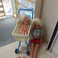 Barbie y Ken: BARBIE Y SHELLY VAN DE COMPRAS MUÑECA Y ACCESORIOS 1995. Lote 44477938