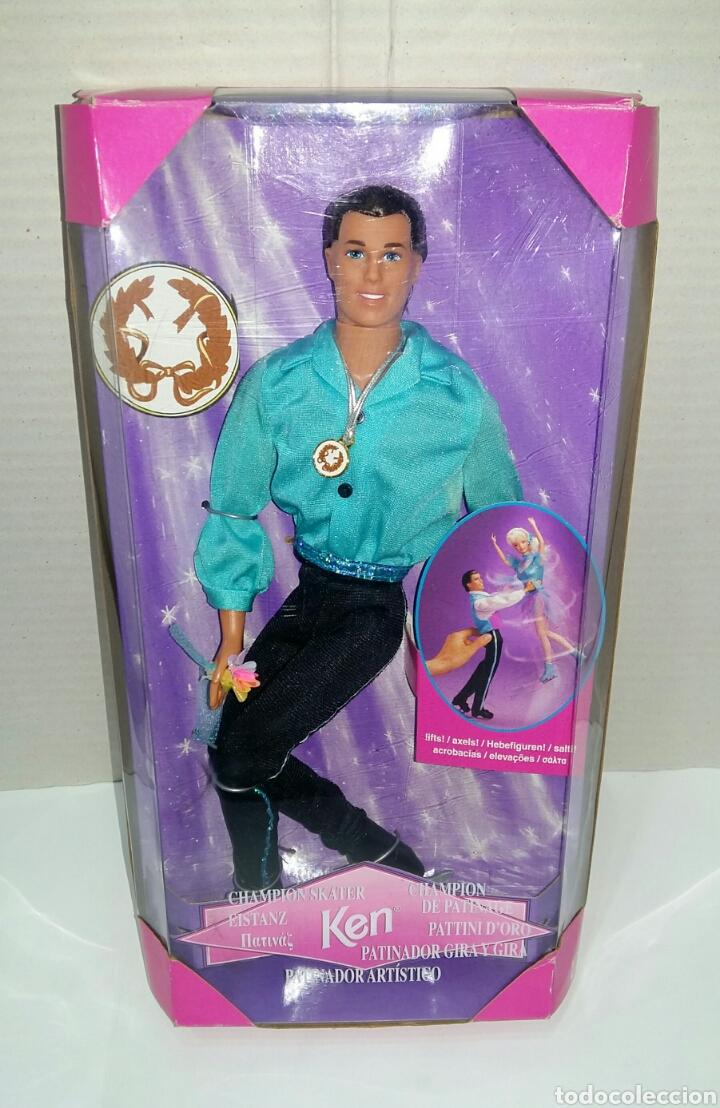 Barbie y Ken: BARBIE PATINADORA ARTÍSTICA Y KEN PATINADOR. NUEVO. MATTEL.1997. GIRA Y GIRA.CAMPEÓN.REF 19165 19221 - Foto 3 - 185752340