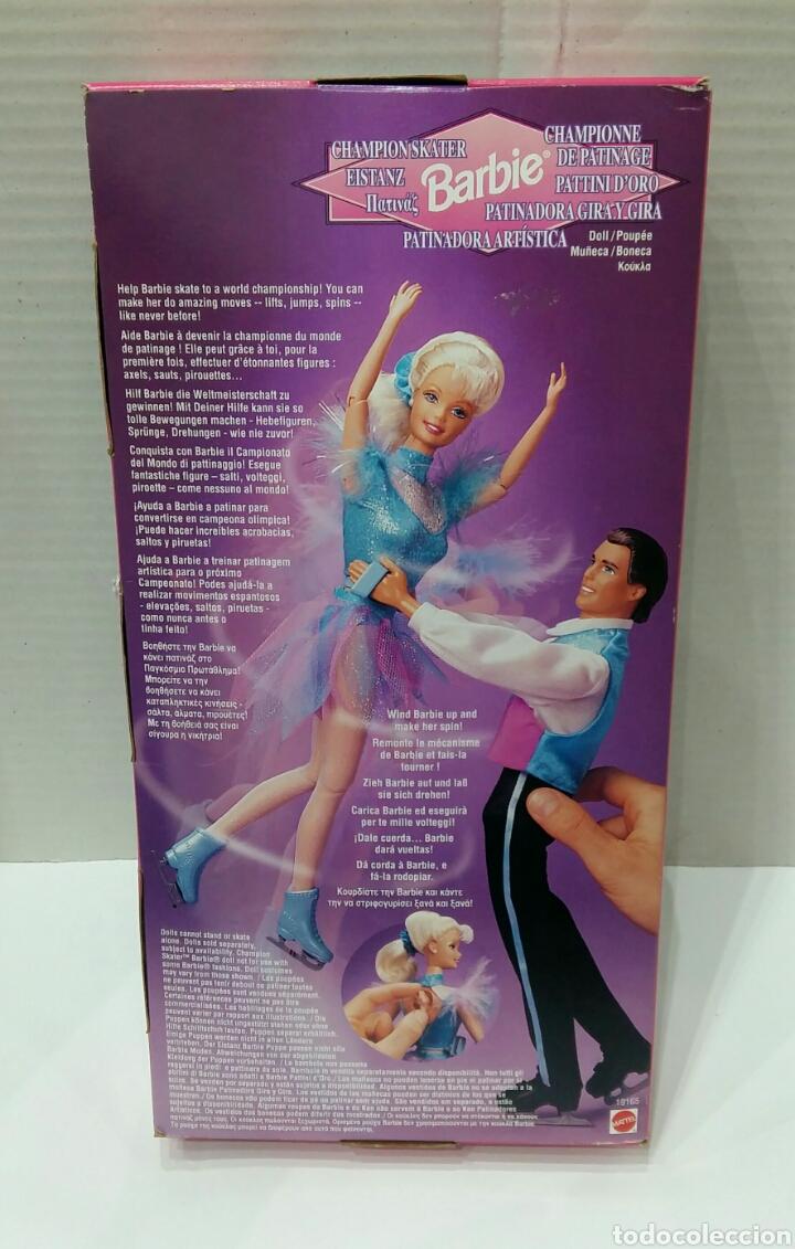 Barbie y Ken: BARBIE PATINADORA ARTÍSTICA Y KEN PATINADOR. NUEVO. MATTEL.1997. GIRA Y GIRA.CAMPEÓN.REF 19165 19221 - Foto 4 - 185752340