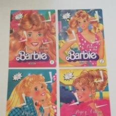 Barbie y Ken: ÚLTIMO LOTE 4 LIBROS PEGATINAS PEGA Y COLOREA BARBIE 1 2 3 4 NUEVOS COLECCIÓN COMPLETA COMPLETO 1992. Lote 187502657