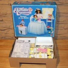 Barbie y Ken: FAMILIA CORAZON BARBIE - NURSERIA - NUEVA Y EN CAJA. NURSERY DE LSO BEBES - MATTEL SPAIN. Lote 190405606