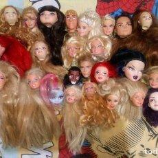 Barbie y Ken: LOTE VARIADO Nº1 DE 25 CABEZAS CON DEFECTOS DE BARBIE, KEN, MONSTER HIGH, EVER AFTER HIGH, DISNEY. Lote 228291621
