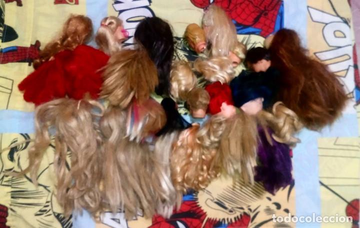 Barbie y Ken: LOTE VARIADO Nº1 DE 25 CABEZAS CON DEFECTOS DE BARBIE, KEN, MONSTER HIGH, EVER AFTER HIGH, DISNEY - Foto 2 - 228291621