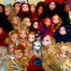 Barbie y Ken: LOTE VARIADO Nº2 DE 25 CABEZAS CON DEFECTOS DE BARBIE, KEN, MONSTER HIGH, EVER AFTER HIGH, DISNEY. Lote 191415245