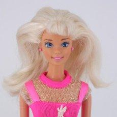 Barbie y Ken: BARBIE FLOWER FUN CON VESTIDO Y PENDIENTES ORIGINALES - ZAPATOS CLON - MATTEL, 1996. Lote 195439513