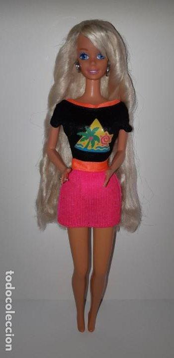 Barbie y Ken: MUÑECA BARBIE PEINADOS Y BRILLOS GLITTER HAIR DE MATTEL AÑOS 90 - Foto 3 - 199235910