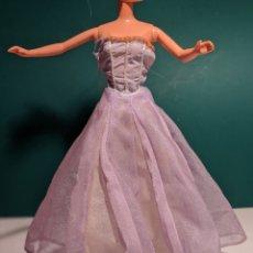 Barbie y Ken: VESTIDO REVERSIBLE BARBIE O SIMILAR - MORADO. Lote 201677490