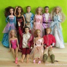 Barbie y Ken: LOTE 10 MUÑECAS BARBIES Y KEN + ROPA + MUCHOS ACCESORIOS - BARBIE MATTEL. Lote 206173693