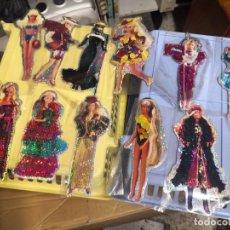 Barbie y Ken: COLECCION 11 PEGATINAS VINTAGE SERIE BARBIE PEGATINAS ADESHIVAS BRILLO 17 CTMOS APROXIMADAMENTE. Lote 207135906