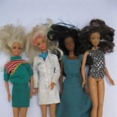 Barbie y Ken: LOTE DE 4 MUÑECAS BARBIE.. Lote 207212156