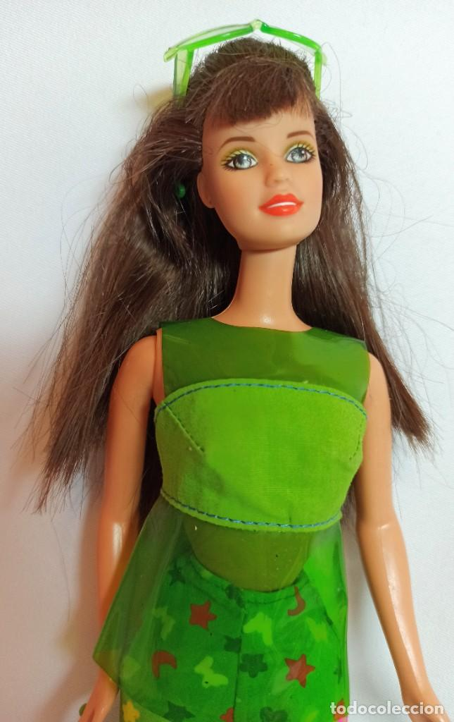 Barbie y Ken: Muñeca coleccion Nº55 Barbie Sit In Style Christie Teresa verde - Foto 3 - 207236327