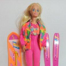 Barbie y Ken: MUÑECA BARBIE Nº380 BARBIE SKI FUN 1994. Lote 214757490