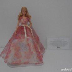 Barbie y Ken: BARBIE DE COLECCION, FELIZ CUMPLEAÑOS, CERTIFICADO DE AUTENTICIDAD, 2014 MATTEL. Lote 215078992
