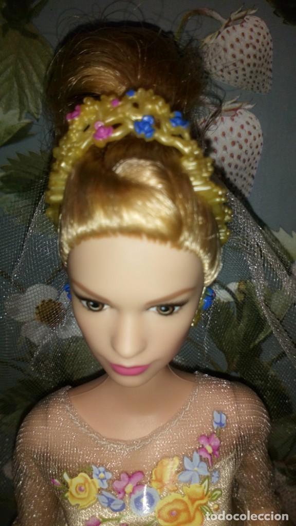 Barbie y Ken: GUAPISIMA MUÑECA BARBIE CENICIENTA-CINDERELLA, NOVIA, DIA DE BODA-WEDDING DAY - MATTEL - 2014 - Foto 5 - 215391695