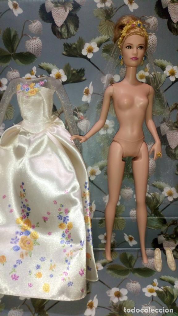 Barbie y Ken: GUAPISIMA MUÑECA BARBIE CENICIENTA-CINDERELLA, NOVIA, DIA DE BODA-WEDDING DAY - MATTEL - 2014 - Foto 12 - 215391695