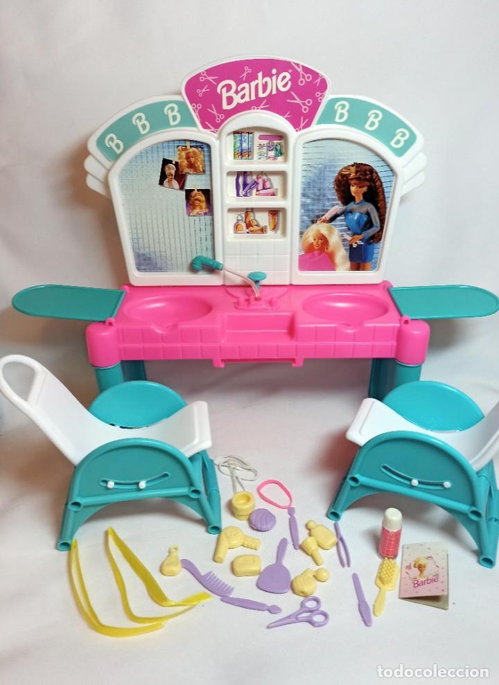 Barbie y Ken: Peluqueria de muñeca Barbie Cut n style antigua. - Foto 6 - 216615093