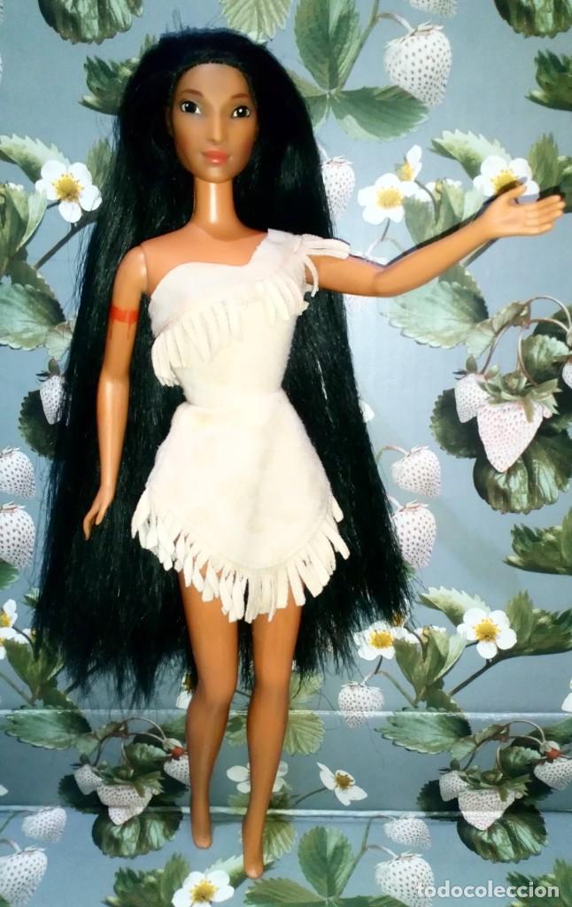 PRECIOSA MUÑECA BARBIE POCAHONTAS, DISNEY - MATTEL - 1995, DOLL, POUPÉE (Juguetes - Muñeca Extranjera Moderna - Barbie y Ken)