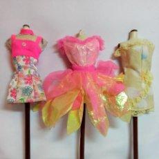 Barbie y Ken: VESTIDOS COLECCION Nº29 TRES VESTIDOS ORIGINALES DE BARBIE. Lote 220784191