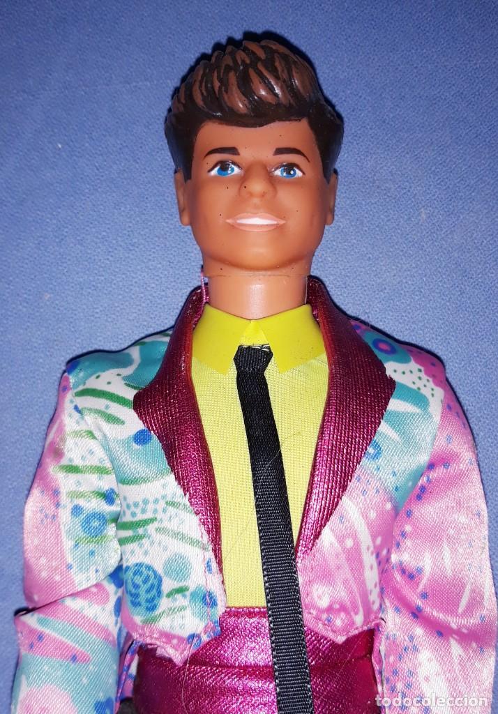 ANTIGUO DEREK ROCKERS DE BARBIE DE MATTEL ORIGINAL AÑO 1985 ROCK STARS MADE IN SPAIN (Juguetes - Muñeca Extranjera Moderna - Barbie y Ken)