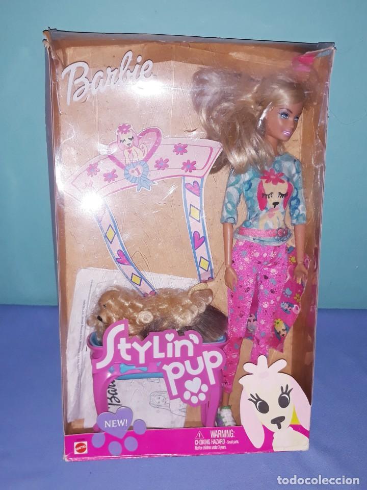 BARBIE STYLIN PUP CON SU CAJA ORIGINAL DE MATTEL (Juguetes - Muñeca Extranjera Moderna - Barbie y Ken)