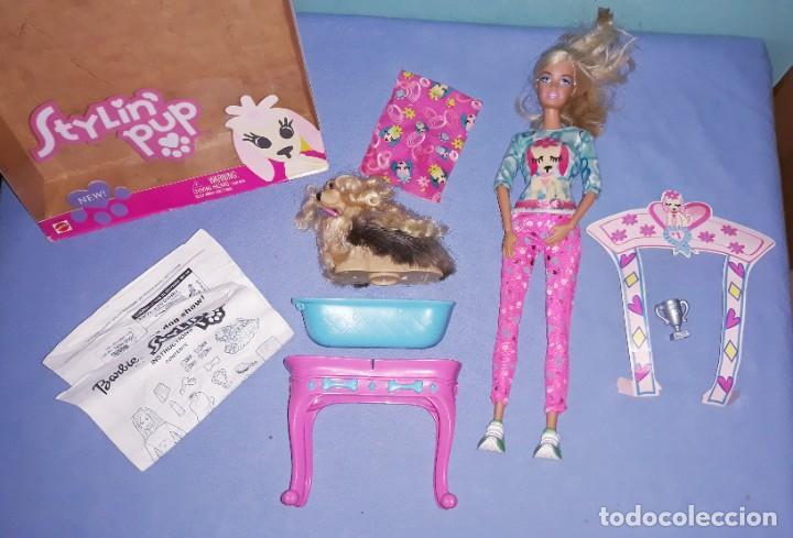 Barbie y Ken: BARBIE STYLIN PUP CON SU CAJA ORIGINAL DE MATTEL - Foto 2 - 222535542