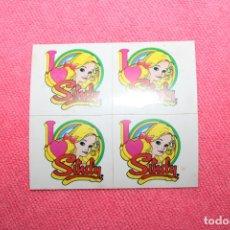 Barbie y Ken: 4 PEGATINAS MUÑECA SINDY. Lote 223141943