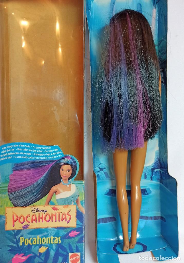 Barbie y Ken: Muñeca Disney Pocahontas Mattel Cabellos Magicos 28 cm - Foto 4 - 223752442