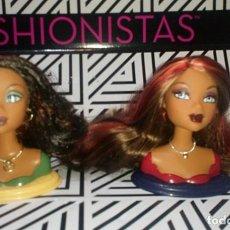 Barbie y Ken: LOTE DE 2 PRECIOSOS BUSTOS-CABEZAS DE BARBIE MY SCENE - MATTEL. Lote 224365538