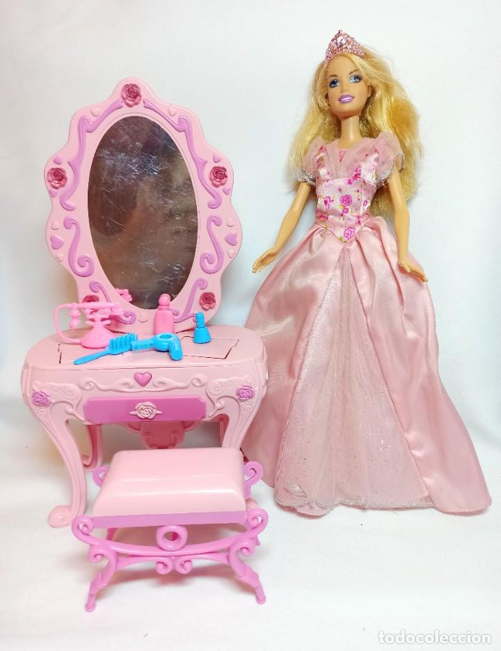 MUÑECA COLECCION Nº696 BARBIE CINDERELLA MAXI VANITY CON TOCADOR (Juguetes - Muñeca Extranjera Moderna - Barbie y Ken)