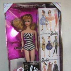 Barbie y Ken: BARBIE 35TH ANIVERSARIO EDICIÓN ESPECIAL REPRODUCCIÓN ORIGINAL 1959 # 11590. Lote 237568960