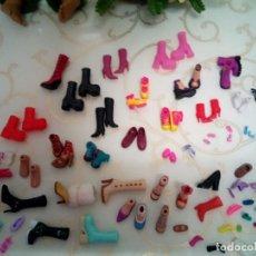 Barbie y Ken: LOTE ZAPATOS TIPO BARBIE O MUÑECOS PEQUEÑOS.. TODO LIMPIO.PIEZAS ESPECIALES.. Lote 238339105